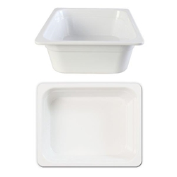 GN 1/2 100mm Deep Gastronorm Pan, Melamine, White