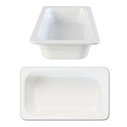 GN 1/3 65mm Deep Gastronorm Pan, Melamine, White