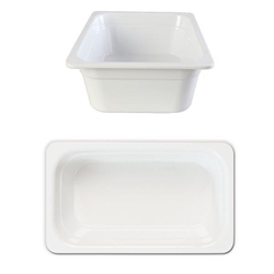 GN 1/3 100mm Deep Gastronorm Pan, Melamine, White