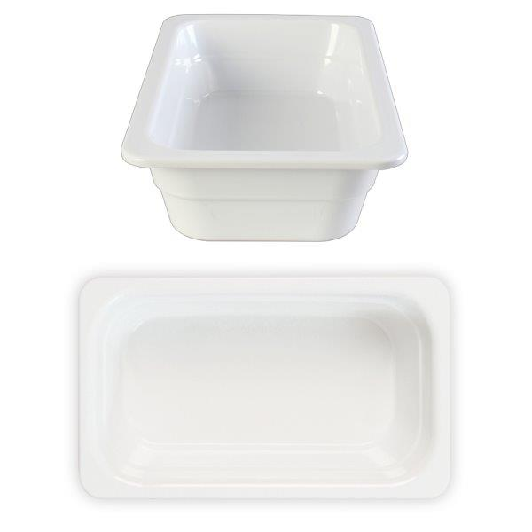 GN 1/4 65mm Deep Gastronorm Pan, Melamine, White