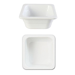 GN 1/6 65mm Deep Gastronorm Pan, Melamine, White