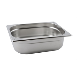 Stainless Steel Gastronorm Pan 1/2 - 100mm deep (Each) Stainless, Steel, Gastronorm, Pan, 1/2, 100mm, deep, Nevilles