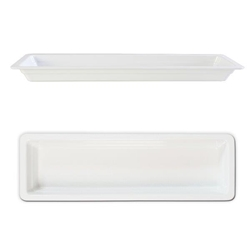 GN 2/4 40mm Deep Gastronorm Pan, Melamine, White