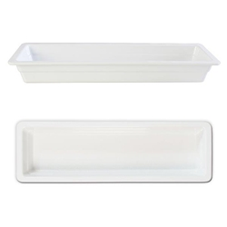 GN 2/4 65mm Deep Gastronorm Pan, Melamine, White