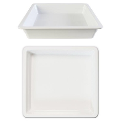 GN 2/3 65mm Deep Gastronorm Pan, Melamine, White
