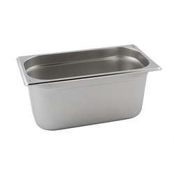 Stainless Steel Gastronorm Pan 1/3 - 100mm deep (Each) Stainless, Steel, Gastronorm, Pan, 1/3, 100mm, deep, Nevilles