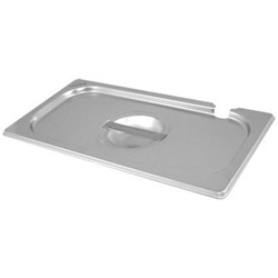 Stainless Steel Gastronorm Pan Notched Lid 1/4 (Each) Stainless, Steel, Gastronorm, Pan, Notched, Lid, 1/4, Nevilles