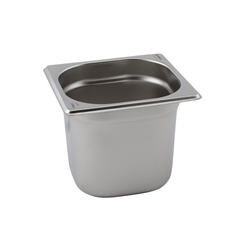 Stainless Steel Gastronorm Pan 1/6 - 100mm deep (Each) Stainless, Steel, Gastronorm, Pan, 1/6, 100mm, deep, Nevilles