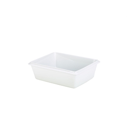 Royal Genware Gastronorm Dish 1/2 100mm White (Each) Royal, Genware, Gastronorm, Dish, 1/2, 100mm, White, Nevilles