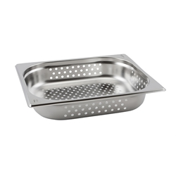 Perforated Stainless Steel Gastronorm Pan 1/2-100mm (Each) Perforated, Stainless, Steel, Gastronorm, Pan, 1/2-100mm, Nevilles