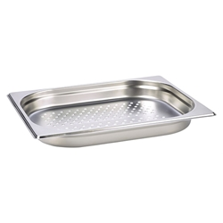 Perforated Stainless Steel Gastronorm Pan 1/2 - 40mm Deep (Each) Perforated, Stainless, Steel, Gastronorm, Pan, 1/2, 40mm, Deep, Nevilles