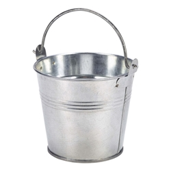 Galvanised Steel Serving Bucket 10cm (Each) Galvanised, Steel, Serving, Bucket, 10cm, Nevilles