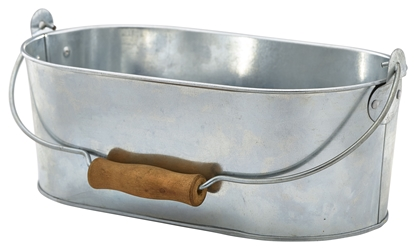 Galvanised Steel Oval Table Caddy 28x15.5x10cm (Each) Galvanised, Steel, Oval, Table, Caddy, 28x15.5x10cm, Nevilles