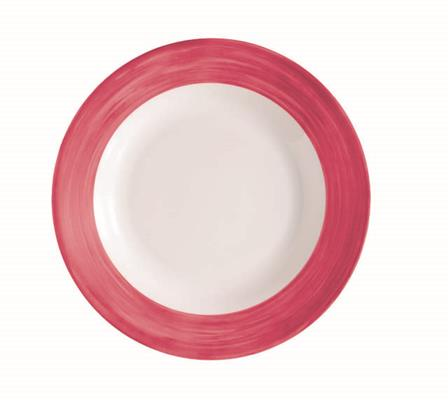 "Brush Cherry Red Dinner Plate 10"" 25.4cm (24 Pack) Brush, Cherry, Red, Dinner, Plate, 10"", 25.4cm"