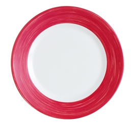 "Brush Cherry Red Side Plate 6.1"" 15.5cm (24 Pack) Brush, Cherry, Red, Side, Plate, 6.1"", 15.5cm"