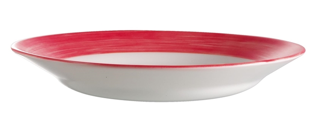 "Brush Cherry Red Soup Plate 8.9"" 22.5cm (24 Pack) Brush, Cherry, Red, Soup, Plate, 8.9"", 22.5cm"