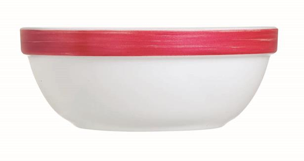 "Brush Cherry Red Stackable Bowl 4.7"" 12cm (36 Pack) Brush, Cherry, Red, Stackable, Bowl, 4.7"", 12cm"