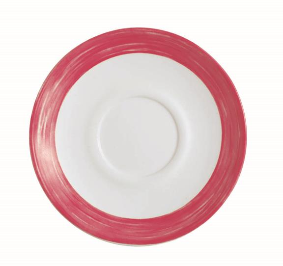 "Brush Cherry Red Saucer 5.5"" 14cm (48 Pack) Brush, Cherry, Red, Saucer, 5.5"", 14cm"