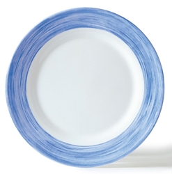 "Brush Blue Jeans Dessert Plate 7.7"" 19.5cm (24 Pack) Brush, Blue, Jeans, Dessert, Plate, 7.7"", 19.5cm"