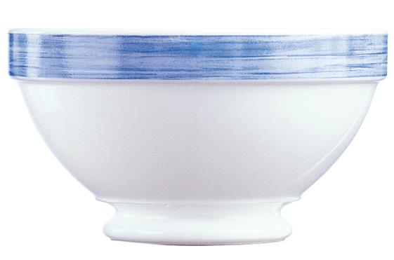 Brush Blue Jeans Stackable Footed Bowl 17.5oz 50cl (36 Pack) Brush, Blue, Jeans, Stackable, Footed, Bowl, 17.5oz, 50cl