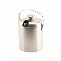 Genware Insulated Stainless Steel Ice Bucket&Tong 1.2L (Each) Genware, Insulated, Stainless, Steel, Ice, Bucket&Tong, 1.2L, Nevilles