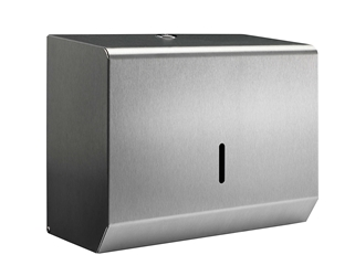 Hand Towel Small Paper Dispenser -  Brushed Stainless