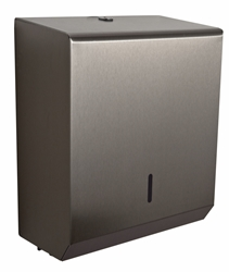 Hand Towel Paper Dispenser -  Brushed Stainless