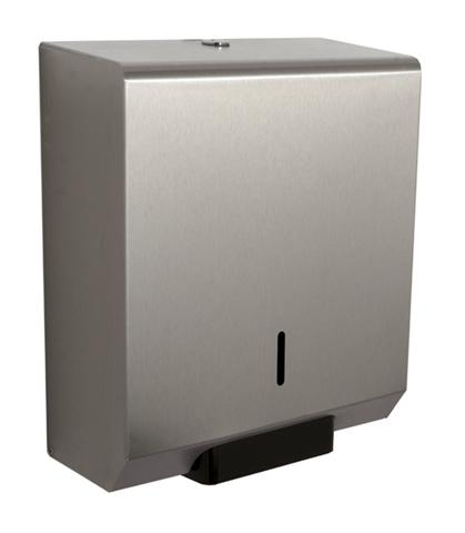 "Square Mini 10"" Jumbo Dispenser  -  Brushed Stainless"
