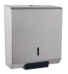 "Square Mini 10"" Jumbo Dispenser  -  Polished Stainless"