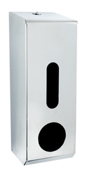 Standard 3 Roll Tissue Dispenser  -  Polished Stainless