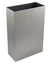 30 Ltr Slim Line Open Top Wastebin -  Brushed Stainless