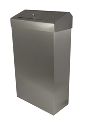 30 Ltr Slim Line Sanitarybin -  Brushed Stainless