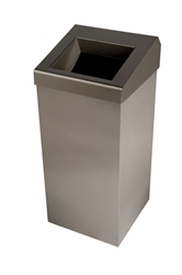 50 Ltr Wastebin Chute Lid  -  Brushed Stainless