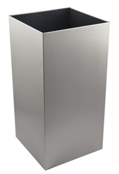 50 Ltr Open Top Wastebin  -  Brushed Stainless