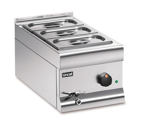 Bain Marie Wet heat - with 3 x 1/3 GN dishes and lids