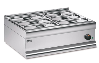 Bain Marie Dry heat - with 6 x 1/3 GN dishes and lids