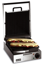 Panini Grill Single - ribbed top and bottom