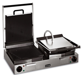 Panini Grill Double - ribbed top and bottom