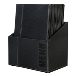 Contemporary Menu Box + 20 A4 Black Menus (Each) Contemporary, Menu, Box, 20, A4, Black, Menus, Nevilles