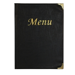 A4 Menu Holder Black 8 Pages (Each) A4, Menu, Holder, Black, 8, Pages, Nevilles