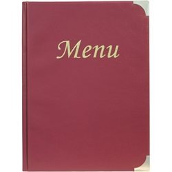 A4 Menu Holder Wine Red 8 Pages (Each) A4, Menu, Holder, Wine, Red, 8, Pages, Nevilles