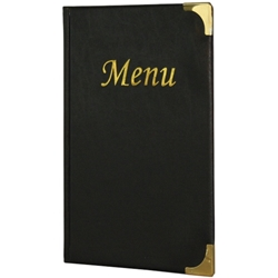 A5 Menu Holder Black 8 Pages (Each) A5, Menu, Holder, Black, 8, Pages, Nevilles