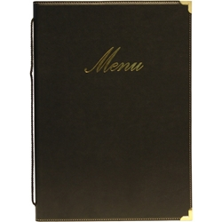 Classic A4 Menu Holder Black 4 Pages (Each) Classic, A4, Menu, Holder, Black, 4, Pages, Nevilles