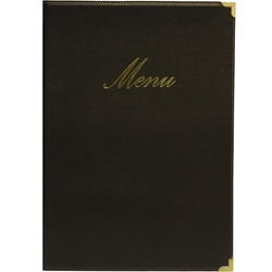 Classic A5 Menu Holder Black 4 Pages (Each) Classic, A5, Menu, Holder, Black, 4, Pages, Nevilles