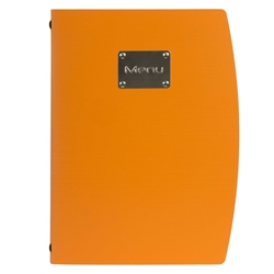 Rio A4 Menu Holder Orange 4 Pages (Each) Rio, A4, Menu, Holder, Orange, 4, Pages, Nevilles