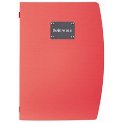 Rio A4 Menu Holder Red 4 Pages (Each) Rio, A4, Menu, Holder, Red, 4, Pages, Nevilles