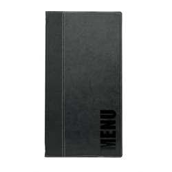 Contemporary Long Menu Holder Black 4 Pages (Each) Contemporary, Long, Menu, Holder, Black, 4, Pages, Nevilles