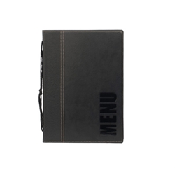 Contemporary A5 Menu Holder Black 4 Pages (Each) Contemporary, A5, Menu, Holder, Black, 4, Pages, Nevilles