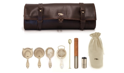 Bonzer Heritage Silver Leather Roll Kit