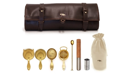 Bonzer Heritage Gold Leather Roll Kit